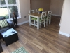 Laminate floor and skirtings